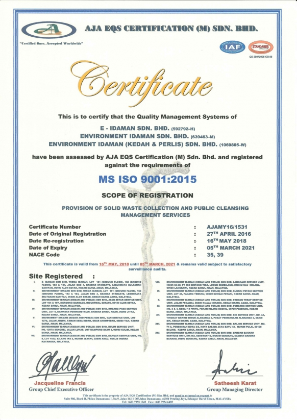 MS ISO 9001 :2015